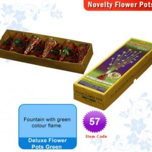 Deluxe Flower Pots Green