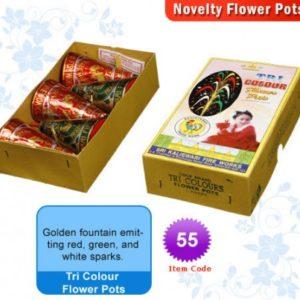 Tri Colour Flower Pots